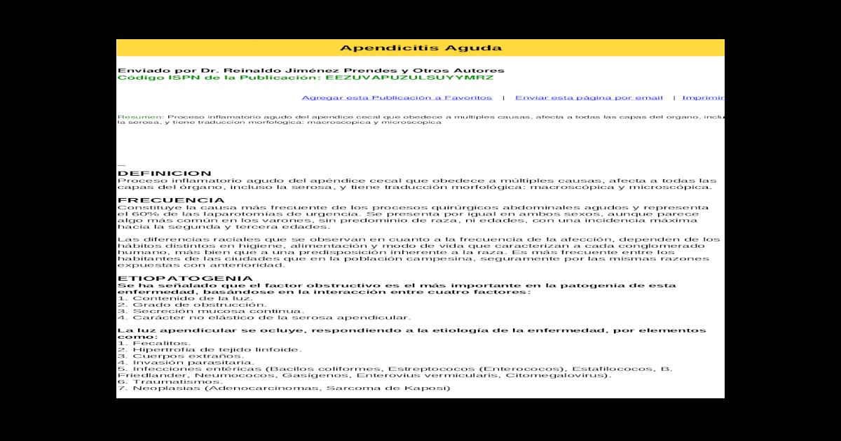 apendicitis aguda ulcero flemonosa con periapendicitis