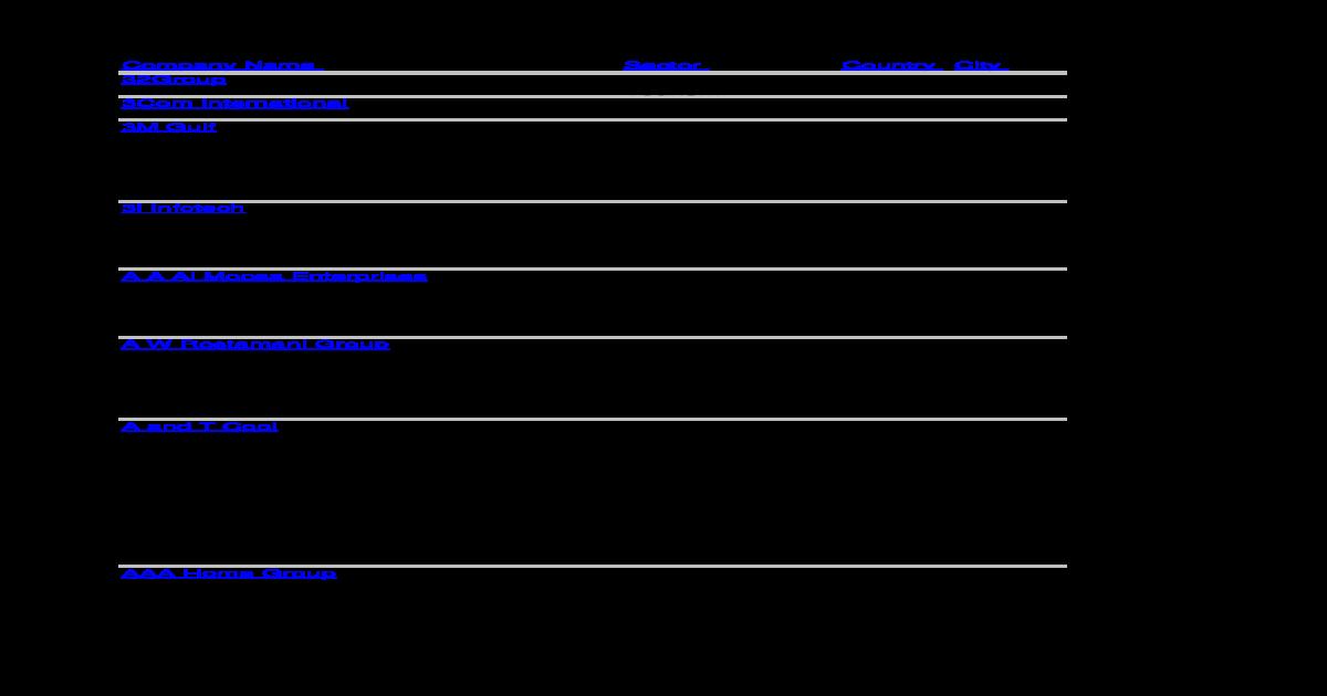Uae Companies - [XLS Document]