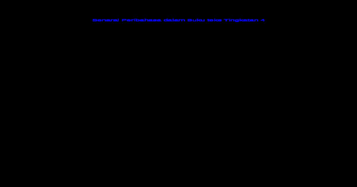 Senarai Peribahasa Dalam Buku Teks Tingkatan 4 Docx Document