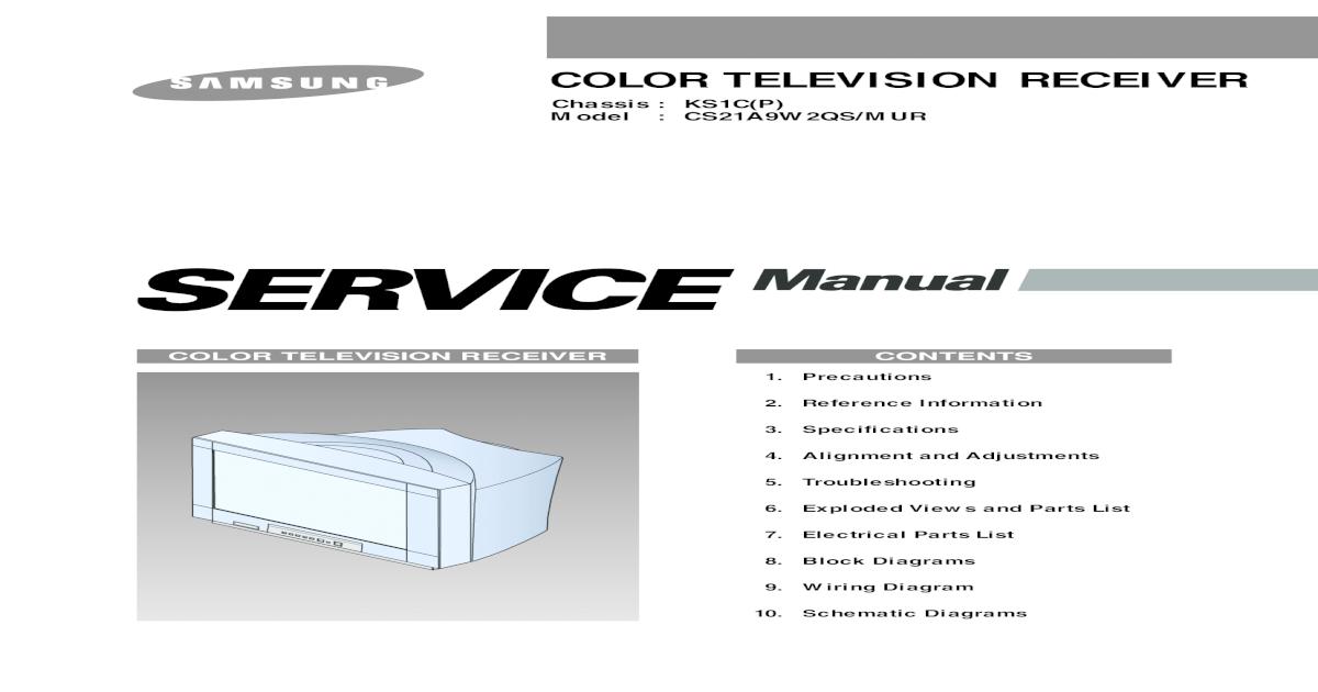 Chassis Ks1c CS21A9W2 - [PDF Document]