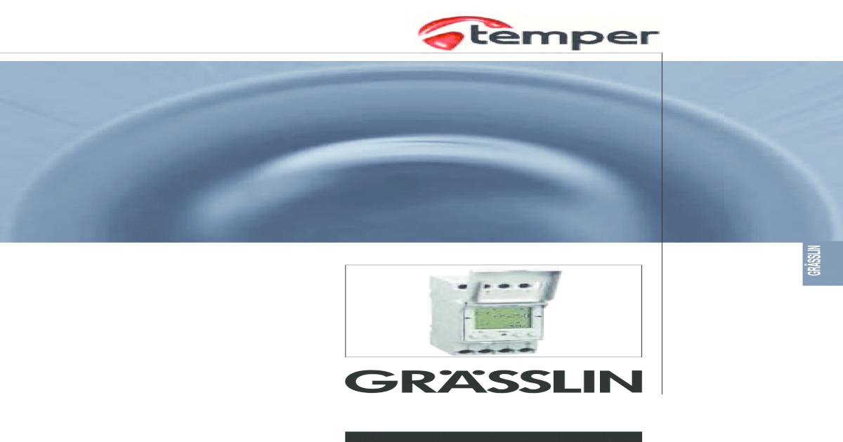 Interruptor programable m/ódulo fm//1 stuzh bk//wh Grasslin fm//1 stuzh bk//wh