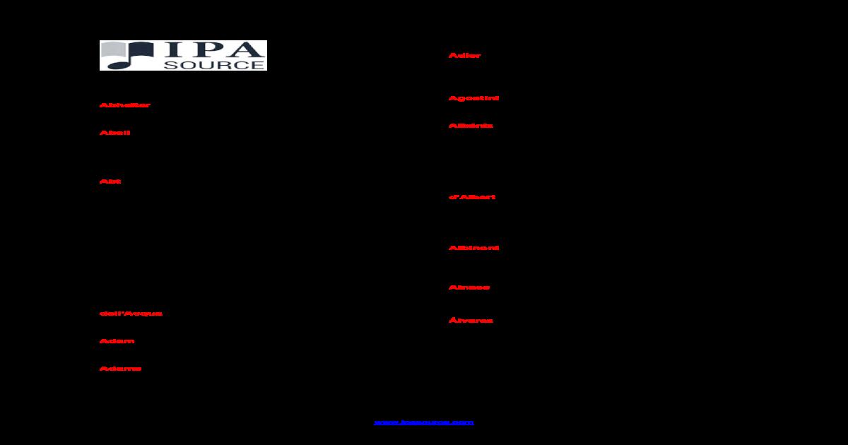 Catalog Of Ipa Source Pdf Document