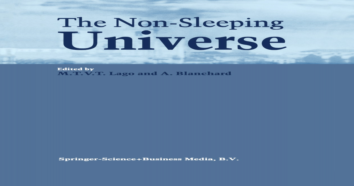 The Non-Sleeping Universe || - [PDF Document]