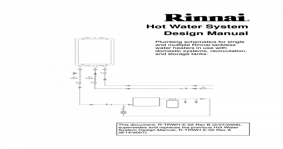 [DIAGRAM_5LK]  hot water system Rinnai piping manual.pdf - [PDF Document] | Rinnai Schematics |  | VDOCUMENTS