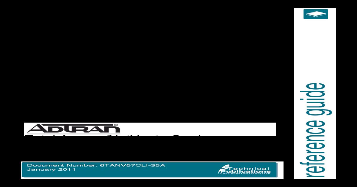 CLI Dictionary ADTRAN TA5000 pdf - [PDF Document]