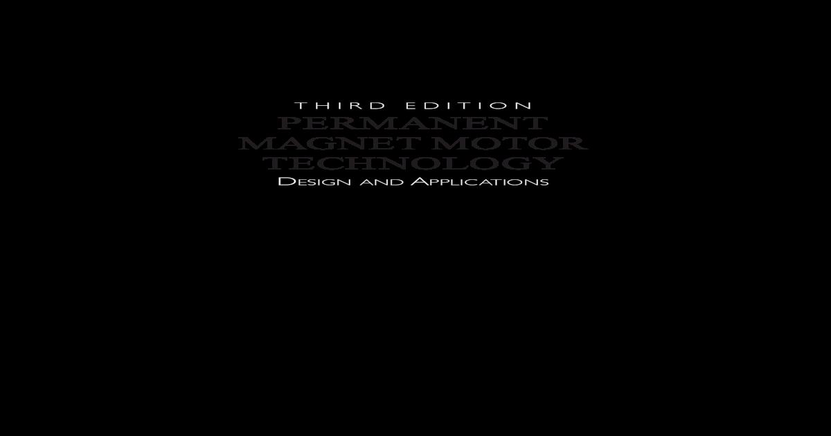 Permanent Magnet Motor - [PDF Document]