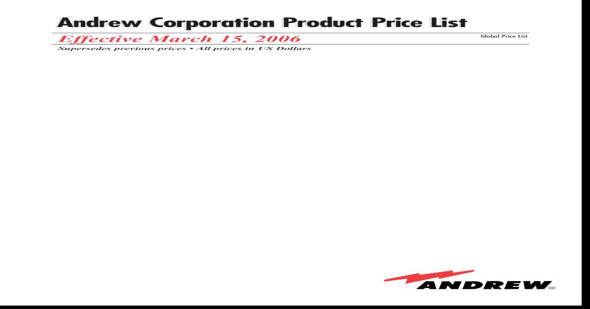 Andrew Pricelist - [PDF Document]