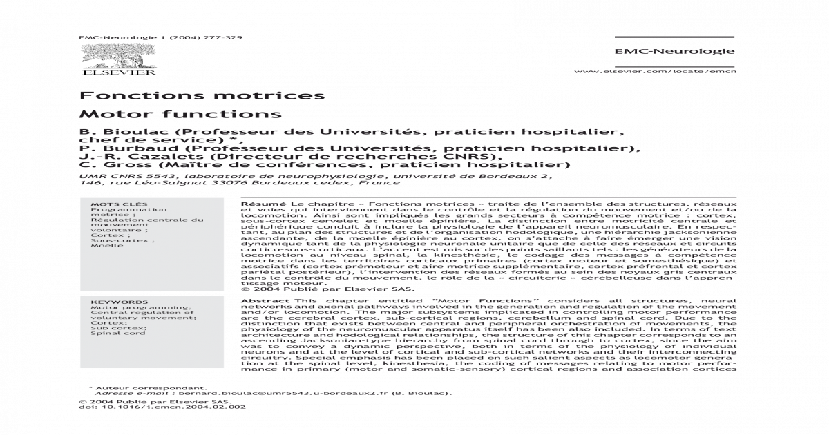 foto de Fonctions motrices - [PDF Document]