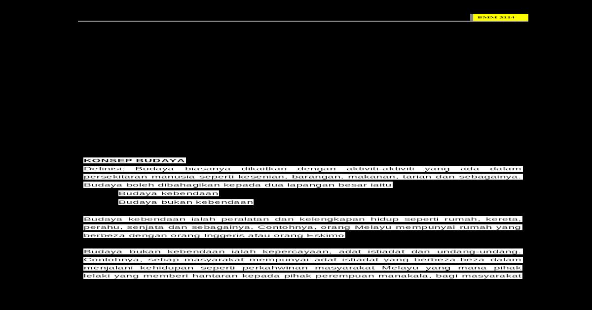 Kebudayaan Melayu Doc Document