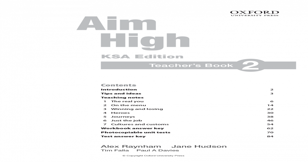 Aim High 2 Teacher Book - PDF Document