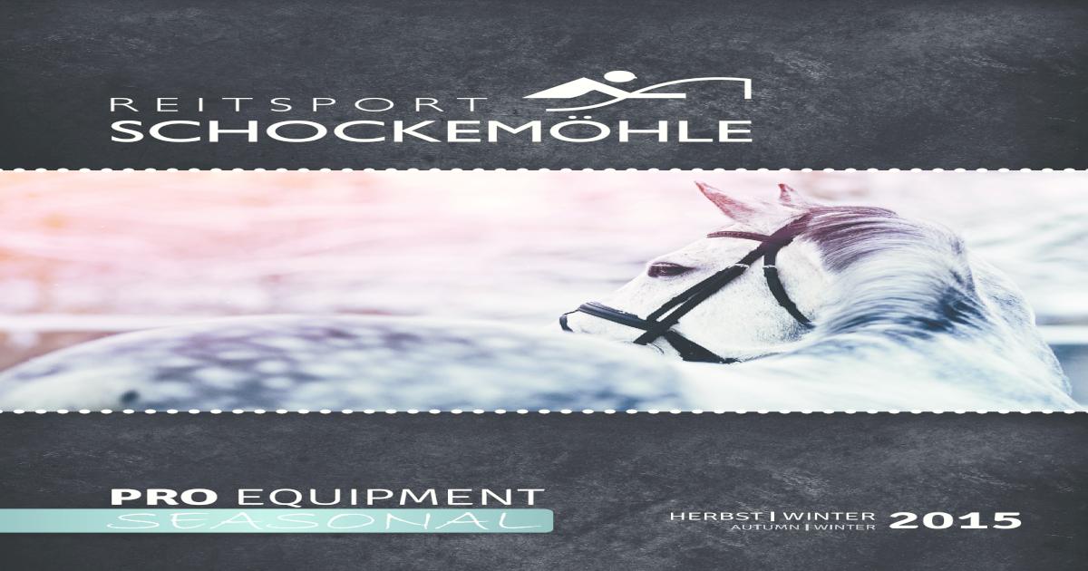Reitsport schockemhle gmbh herbst winter 2015 pro equipment