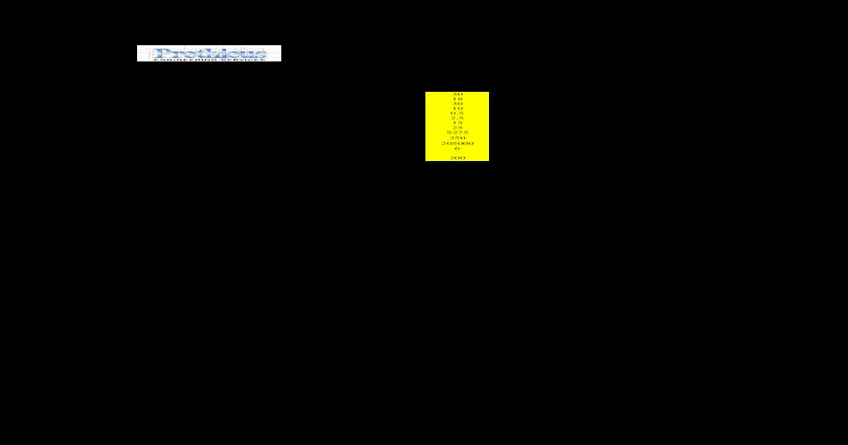 Gantry Girder Unprotected - [XLS Document]