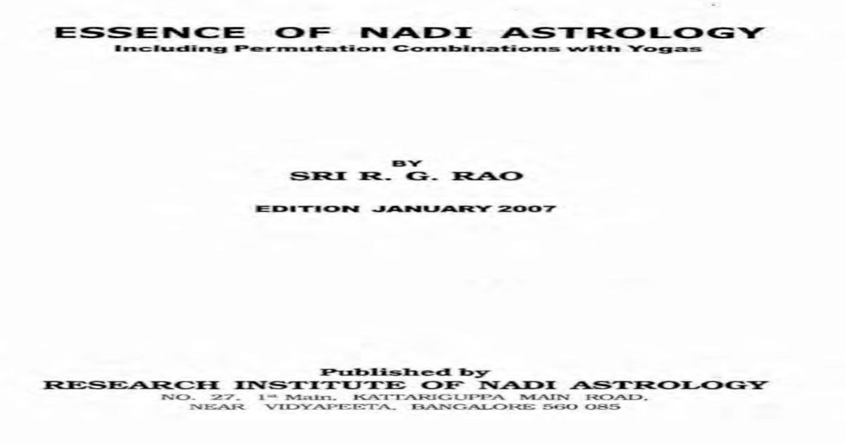 Nadi Astrology R G Rao - [PDF Document]