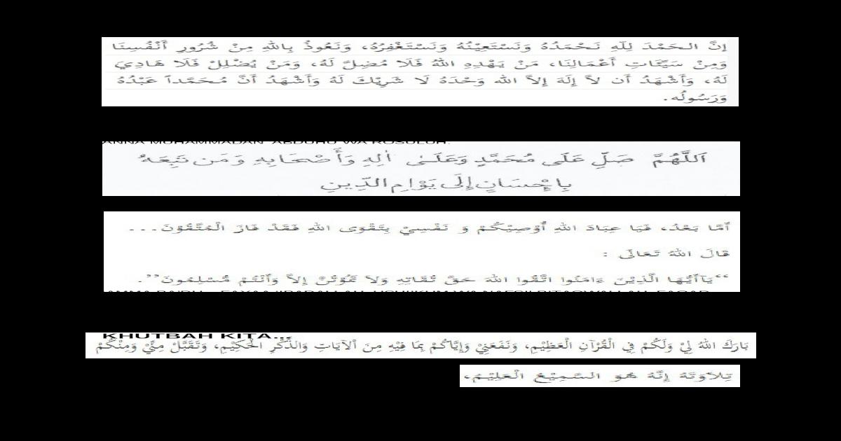 Muqaddimah Khutbah Doc Document