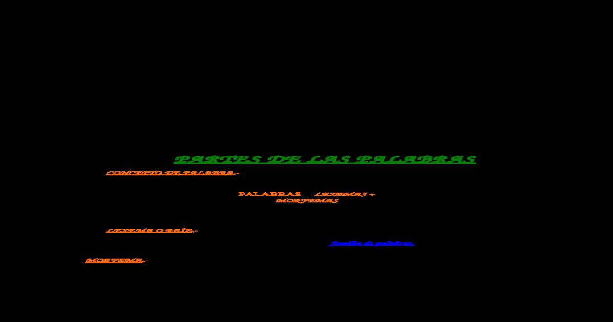Lexema Y Morfema Docx Document