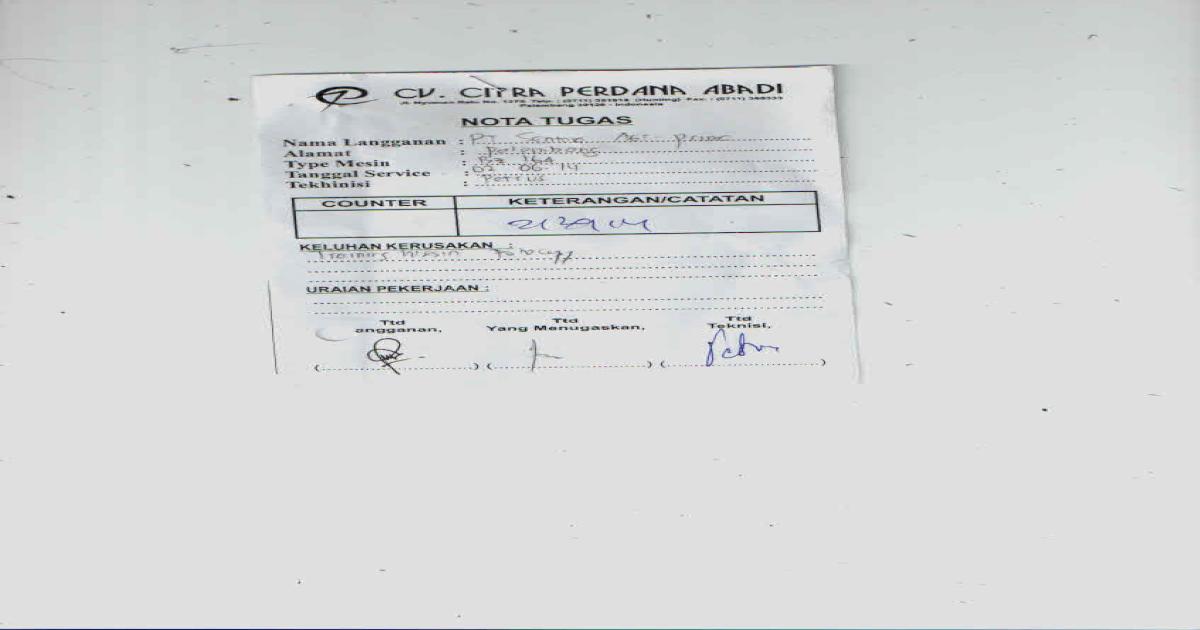 Surat Perjanjian Sewa Mesin Fotocopy Pdf Document