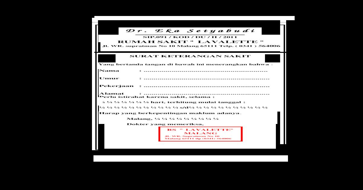 Surat Dokter Lavalette 2 Doc Document