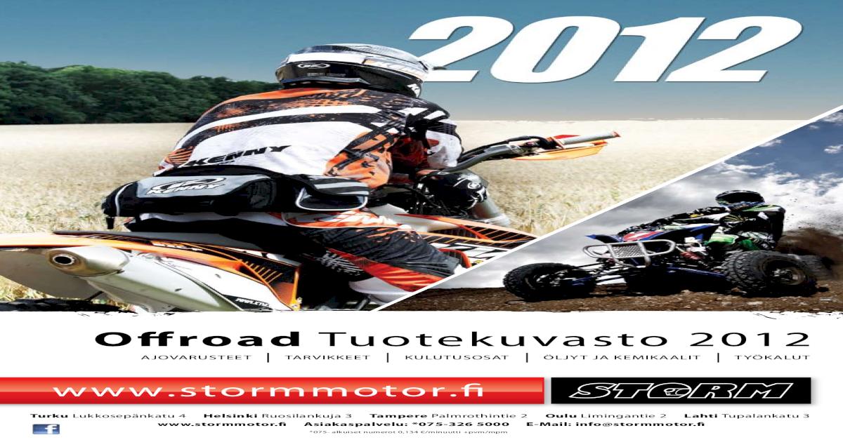 Storm Offroad Tuotekuvasto 2012 - [PDF Document]