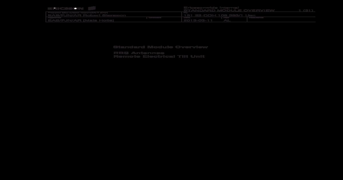 Ericsson Antenna Datasheet