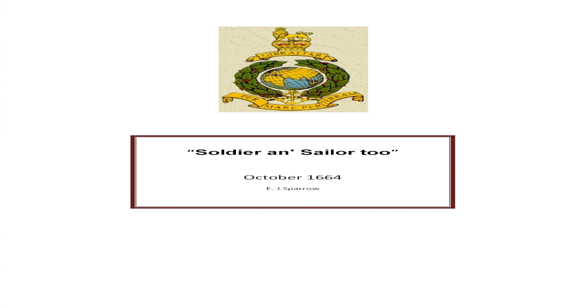 Soldier an' Sailor too - [PDF Document]