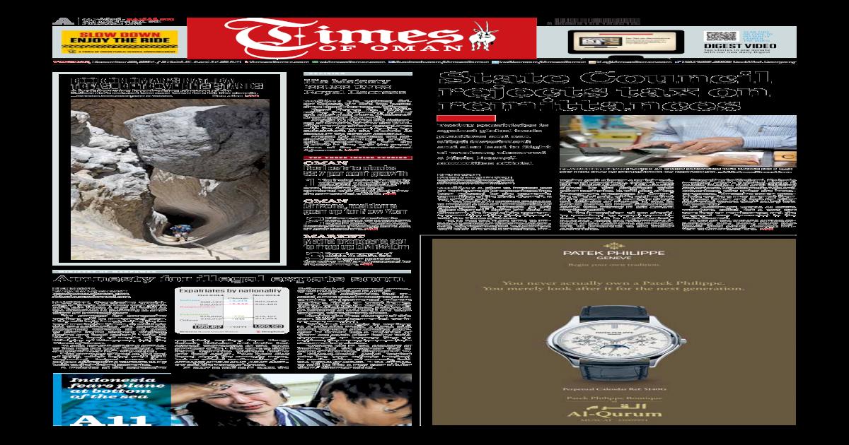 Times Of Oman December 30 2014 Pdf Document